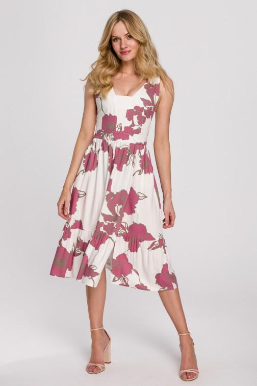 CM5899 Sukienka midi bez rękawów - model 2