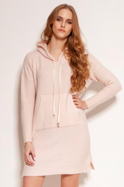 CM5918 Dzianinowa sukienka...