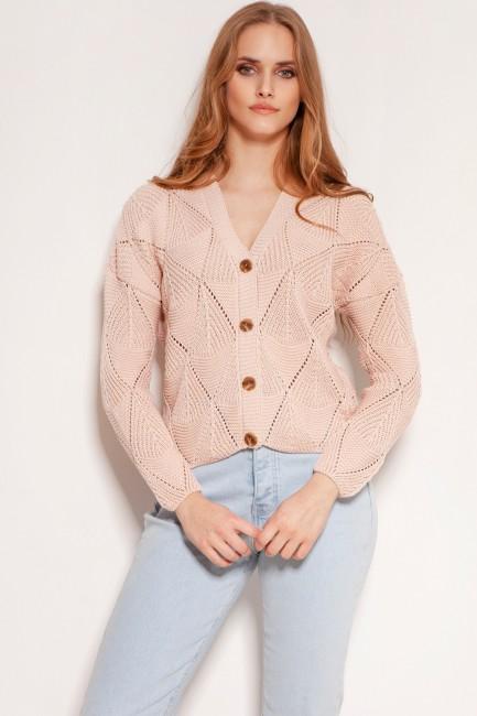 CM5920 Ażurowy sweter na...