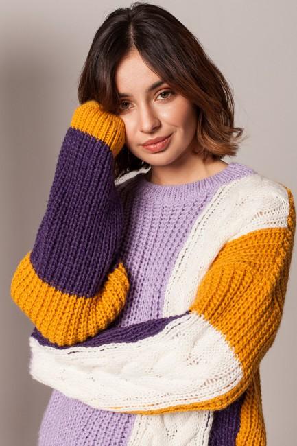 CM5925 Sweter wielokolorowy...