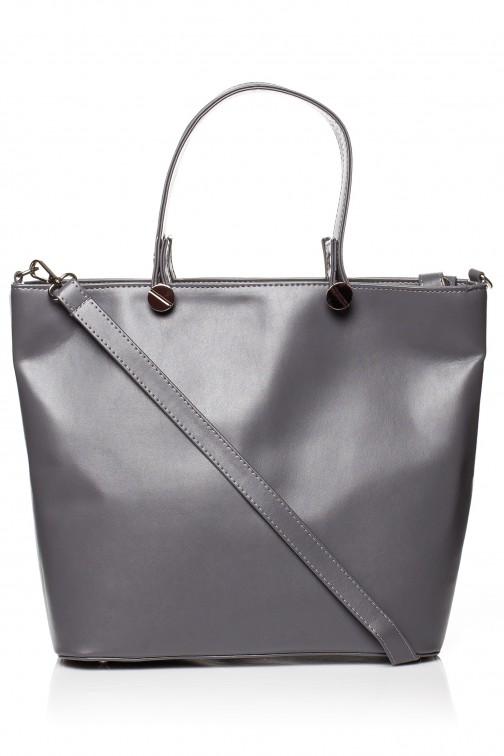 CM3566 Elegancka torba do ręki - grafitowa