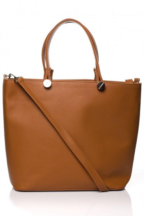CM3566 Elegancka torba do ręki - ruda