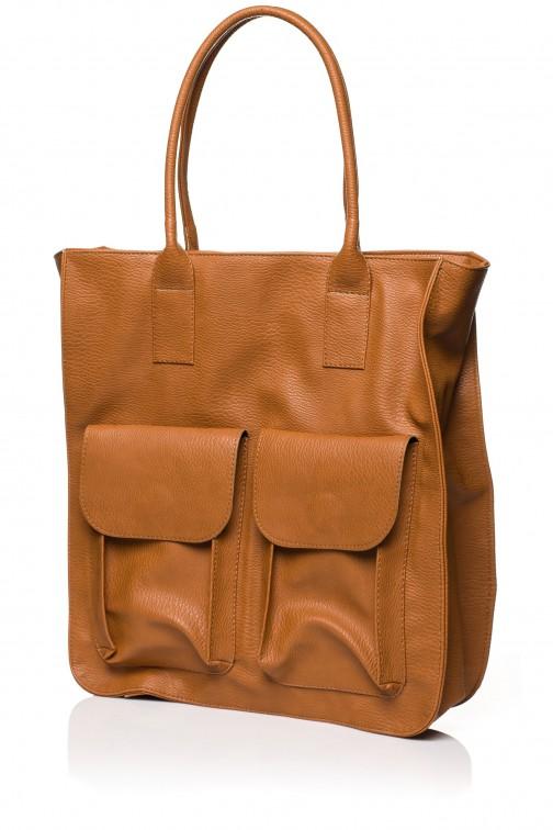 CM3568 Duża torebka na ramię - ruda
