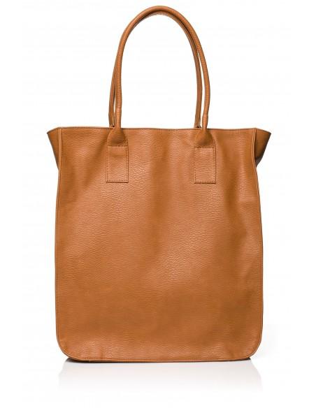 Duża torebka na ramię - ruda