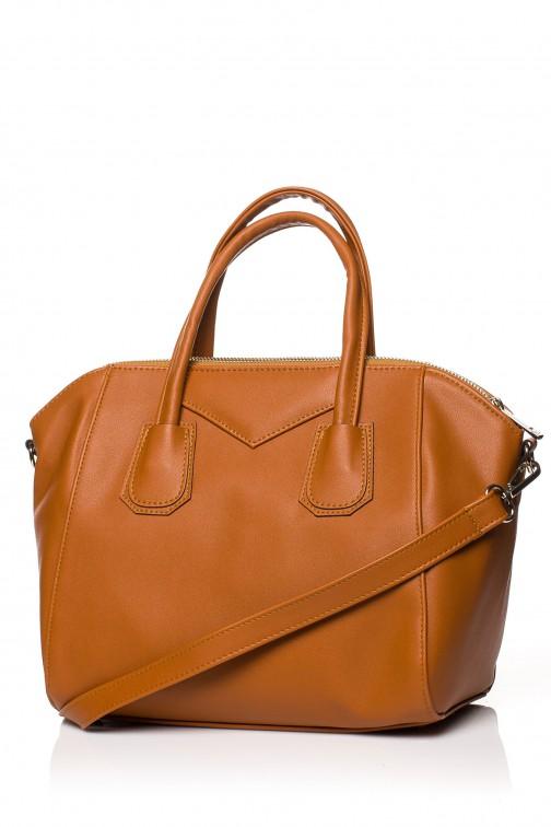 CM3569 Torebka typu kuferek do ręki - ruda