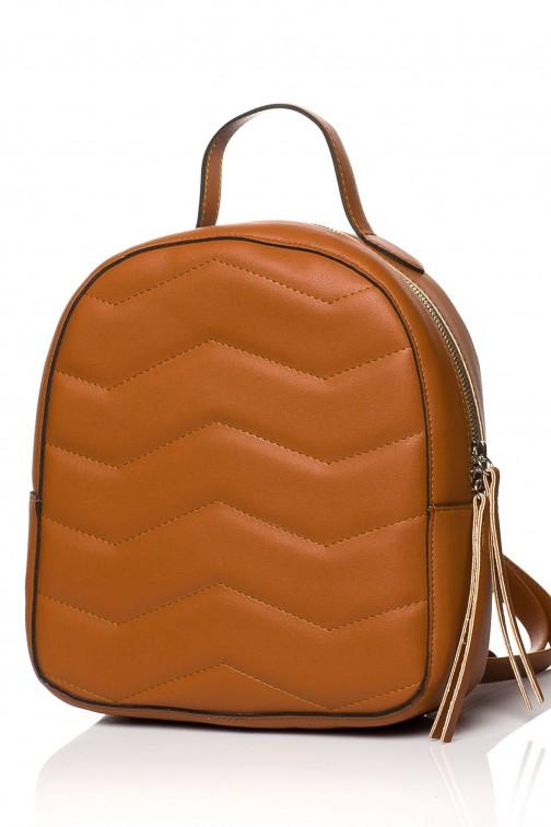 CM3578 Pikowany plecak - rudy