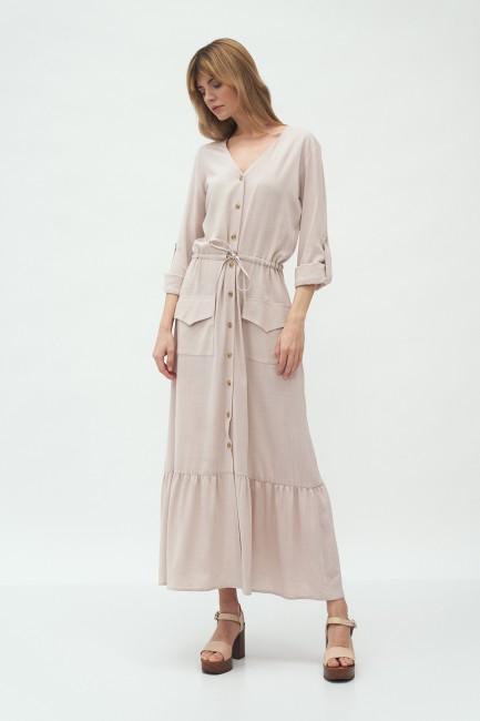 CM5989 Długa sukienka z...