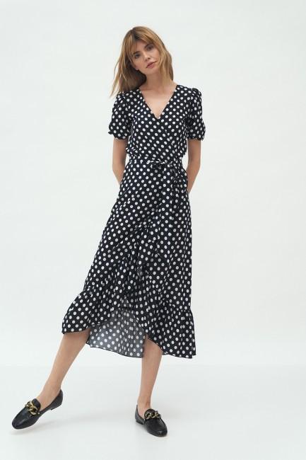 CM5994 Kopertowa sukienka z...