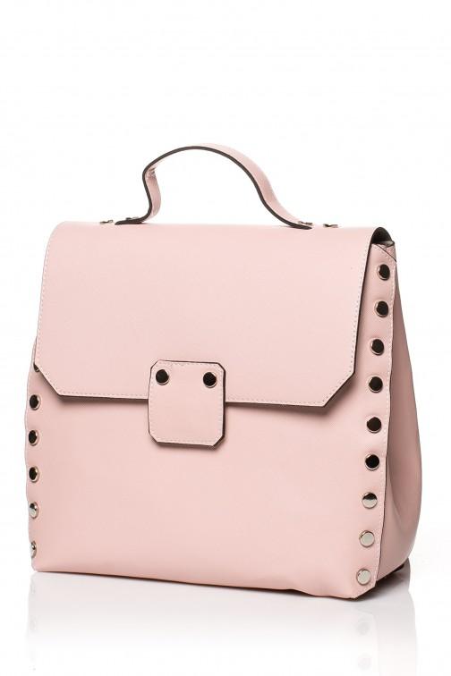CM3831 Mała elegancka torebka - pudrowa