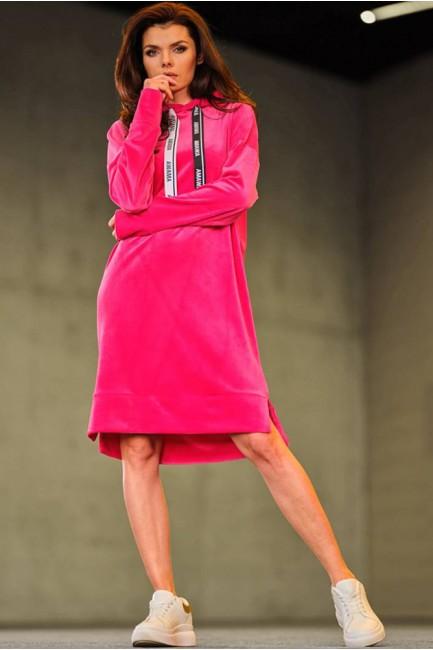 CM6003 Trapezowa sukienka z...