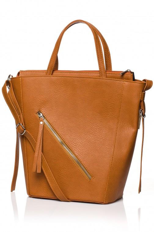 CM3830 Klasyczna torebka na ramię - ruda