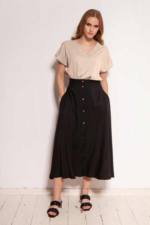 CM5913 Spódnica za kolano - czarna