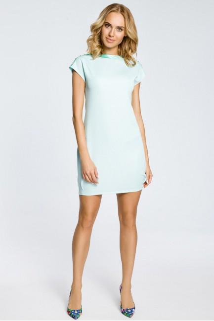 Mini sukienka bombka tunika złote ćwieki - miętowa