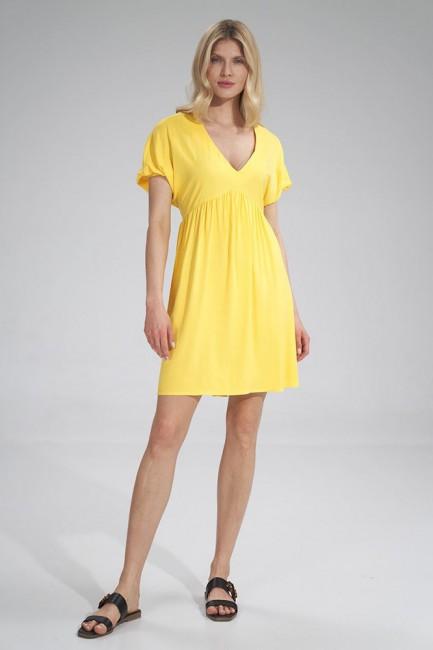 CM6037 Trapezowa sukienka z...