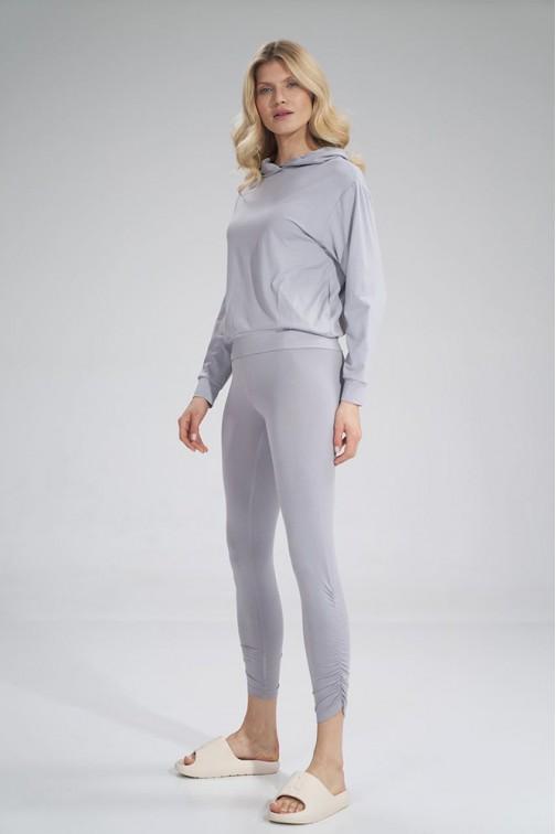 CM6044 Wygodne sportowe legginsy - jasno-szare