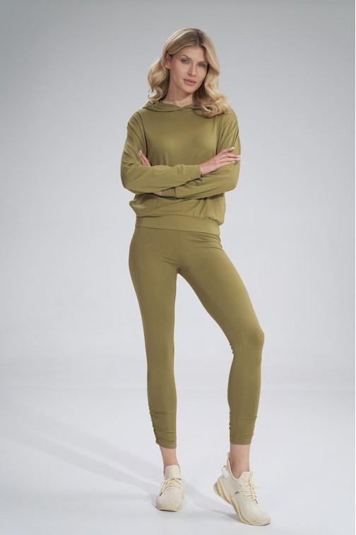 CM6044 Wygodne sportowe legginsy - jasno-oliwkowe