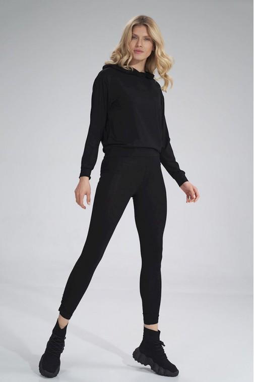 CM6044 Wygodne sportowe legginsy - czarne