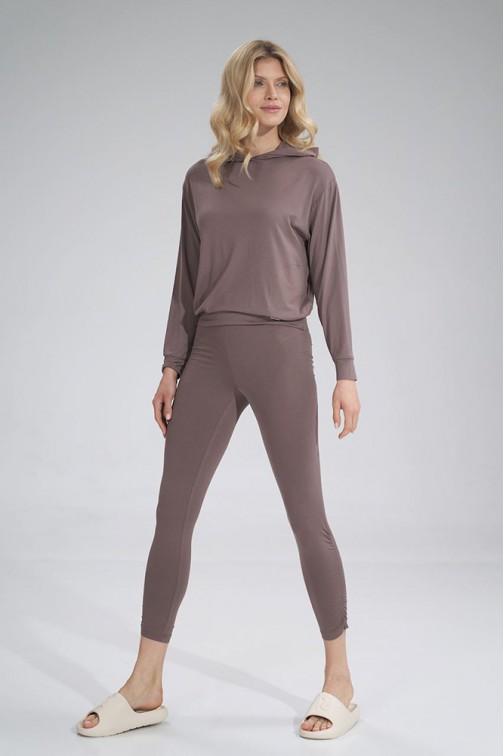 CM6044 Wygodne sportowe legginsy - brązowe