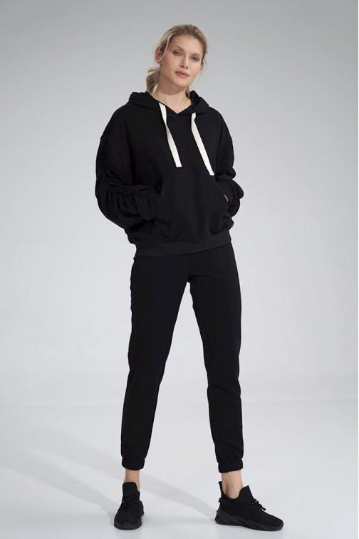CM6050 Bawełniane spodnie dresowe - czarne