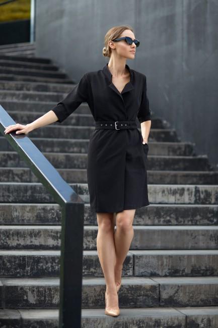 CM3838 Sukienka żakietowa z...