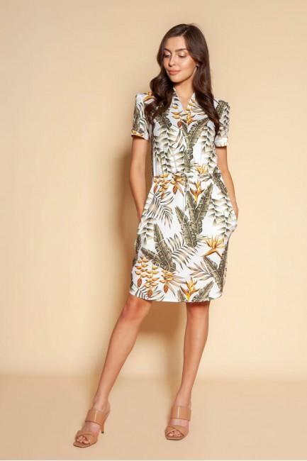 CM6090 Sukienka z troczkiem...