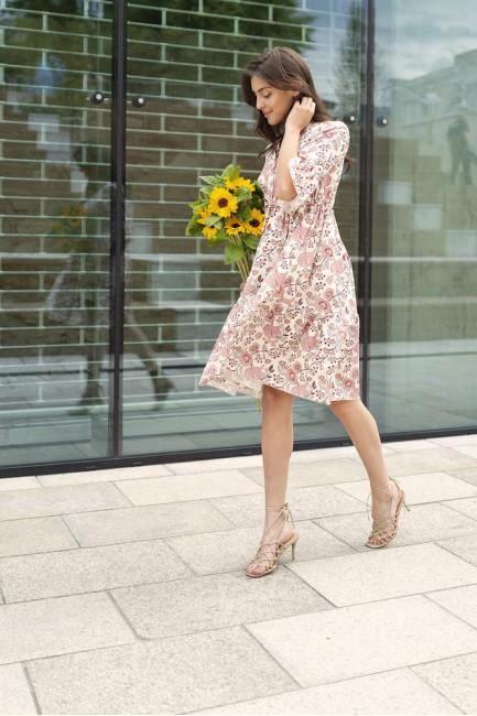 CM6091 Sukienka z falbanami...