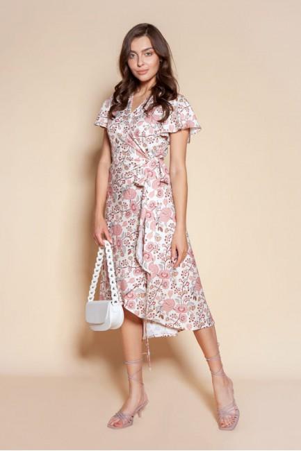 CM6092 Kopertowa sukienka z...