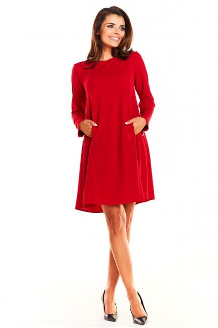 CM3941 Trapezowa sukienka...