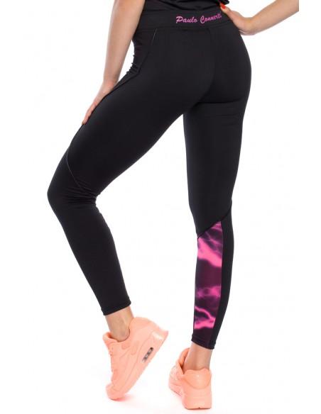 Elastyczne legginsy ze wstawką na łydce