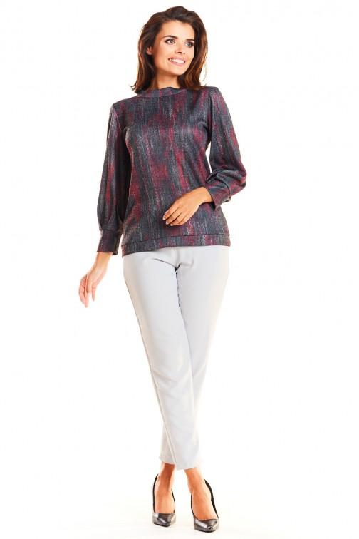 Klasyczna bluzka z szerokim rękawem - czerwona
