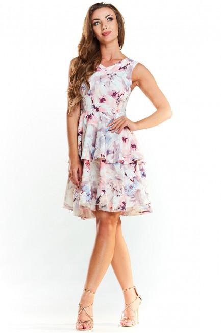CM3969 Sukienka w kwiaty z...