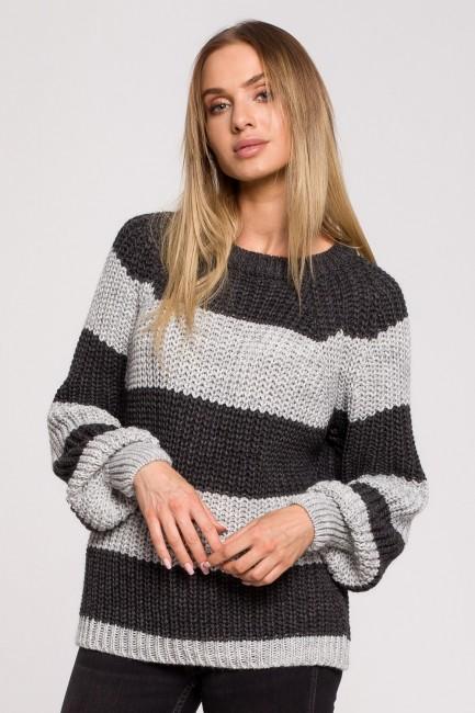 CM6249 Sweter w pasy - model 1