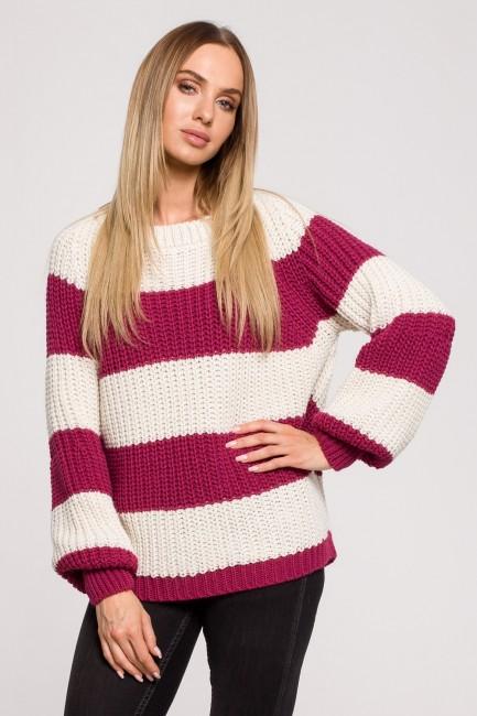 CM6249 Sweter w pasy - model 3