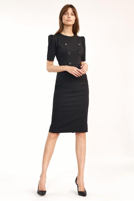 CM6105 Klasyczna sukienka z...