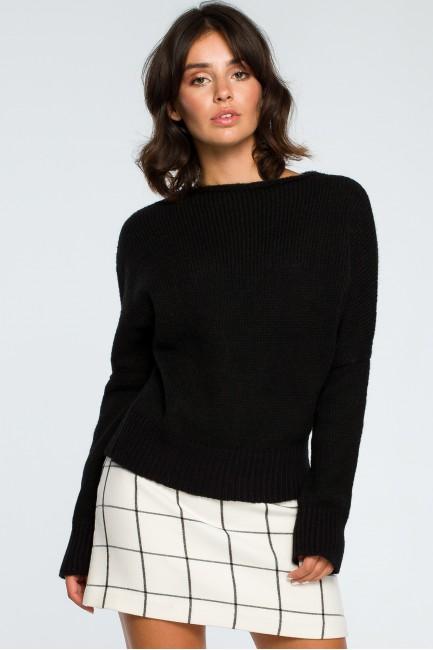 Sweter oversize typu kimono - czarny