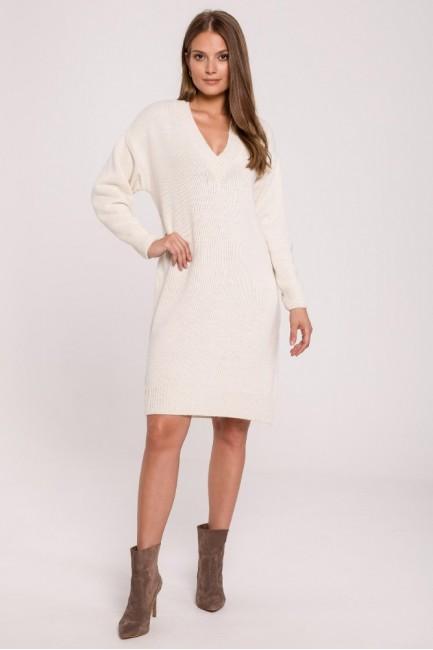 CM6281 Sukienka swetrowa z...