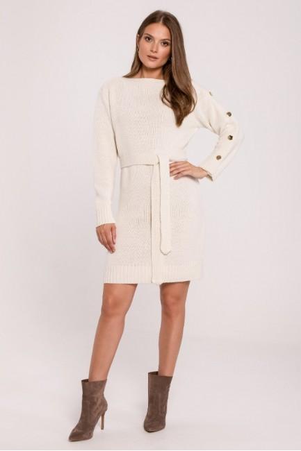 CM6282 Sukienka swetrowa z...