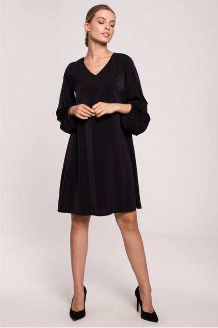 CM6285 Sukienka z szerokimi...