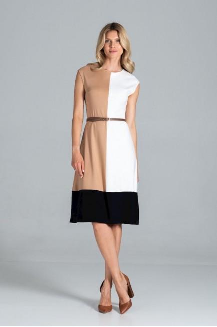 CM6308 Trapezowa sukienka...