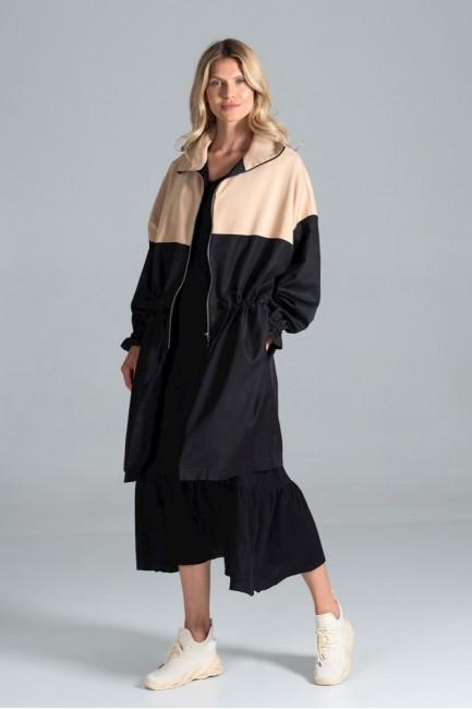 CM6310 Dwukolorowy płaszcz...