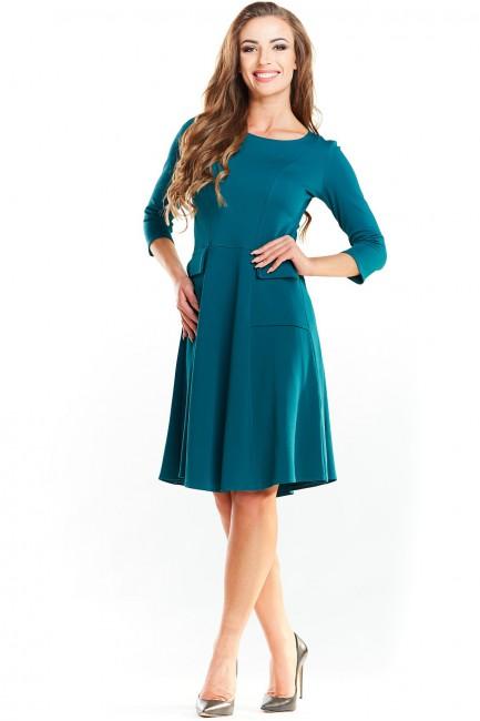 CM3985 Biurowa sukienka z...