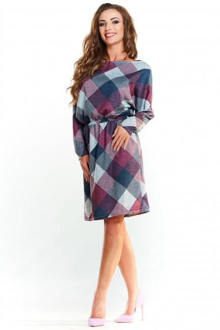CM4005 Klasyczna sukienka z...