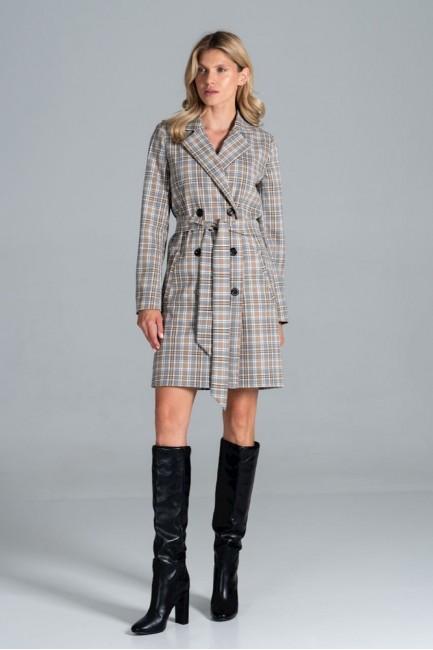 CM6325 Klasyczny płaszcz z...