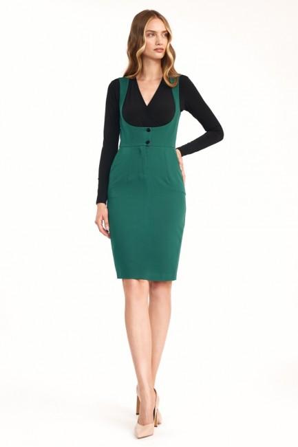 CM6333 Sukienka z guzikami...