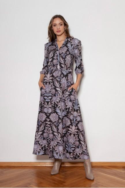 CM6349 Długa sukienka z...