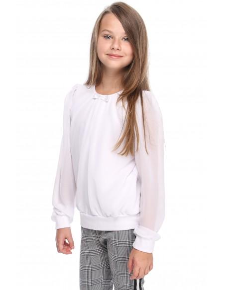 Bluzeczka z szyfonowym rękawem