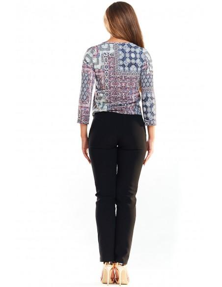 Stylowa bluzka we wzory