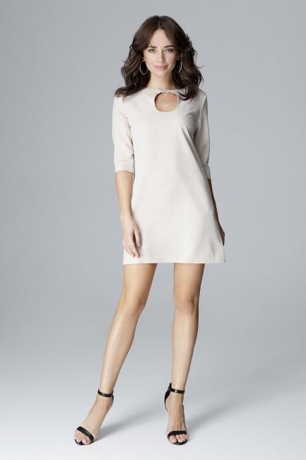 CM4050 Trapezowa sukienka...