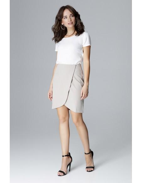 Kopertowa spódniczka mini - szara