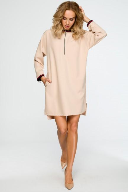 CM4012 Sukienka z zamkami -...
